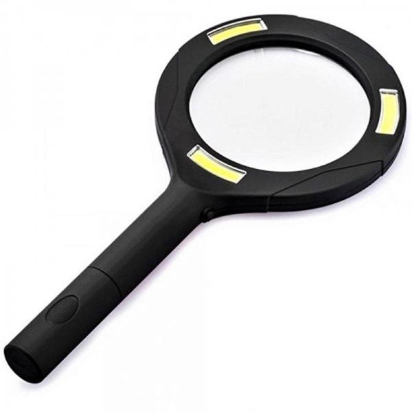 Lupa 3x zoom s LED světlem LM101